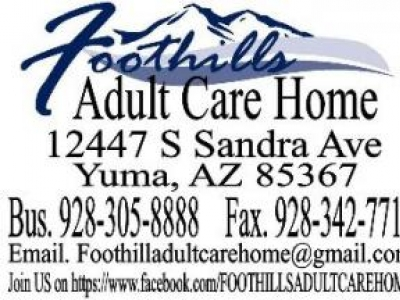 Foothills adult care home - Yuma AZ