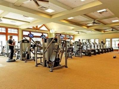 Fitness center in Bradford Hall
